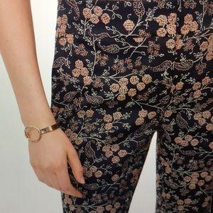 LOFT Paisley Floral Jacquard Pants in Marisa Fit